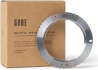 Gobe - Adaptador de Lente Compatible para Lentes Pentax K y cuerpos de cámara Canon EOS EF-S