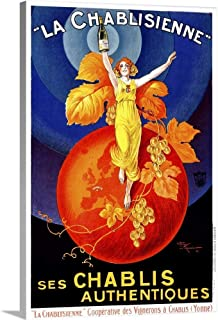 Chablisienne Chablis Wine Vintage Advertising Poster Canvas Wall Art Print, 16