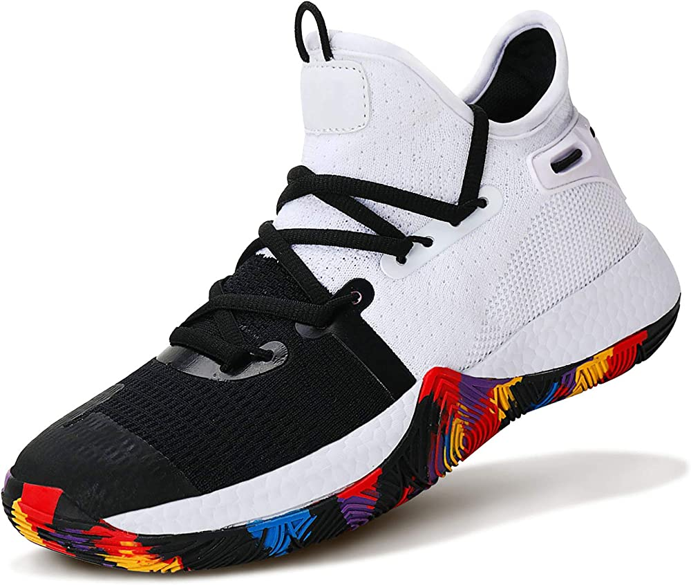 Ashion scarpe da ginnastica da basket sneakers per bambini/ragazzi in pelle sintetica e tessuto 805611D
