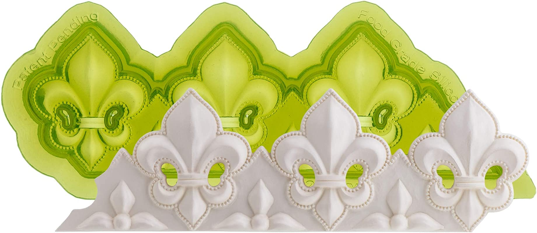 Marvelous Molds Fleur De Lis Silicone Cake Border Mold Cake Decorating Fondant Gumpaste Icing