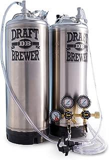 Draft Brewer Flex Homebrew Kegging System with 2 New Ball Lock Kegs