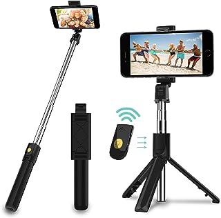 SYOSIN Palo Selfie Trípode con Control Remoto, 3 en 1 Bluetooth Mini Monópode Extensible Selfie Stick para teléfonos Inteligentes iPhone y Andriod