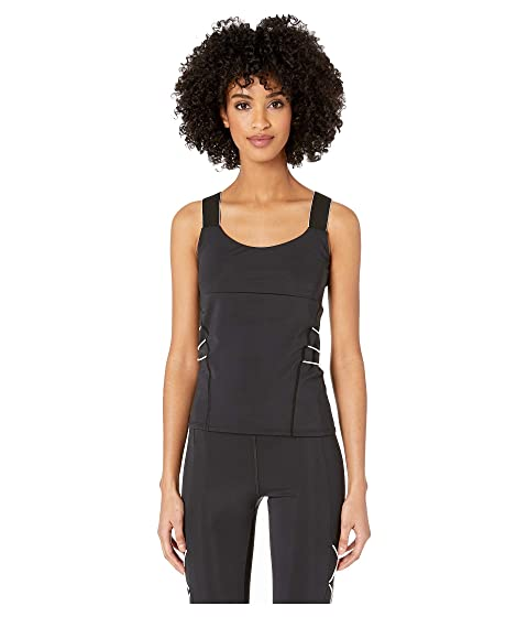 Cushnie Scoop Neck Fitted Tank with Contrast Cording at Side