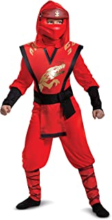 Disguise Kai Boys Lego Ninjago Jumpsuit Costume