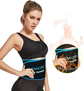 Ufanore Waist Trimmer Belt for Men & Women, Breathable Abdominal Waist Trainer, Stomach and Low Back Support, Adjustable Waist Cincher Trimmer for Weight Loss