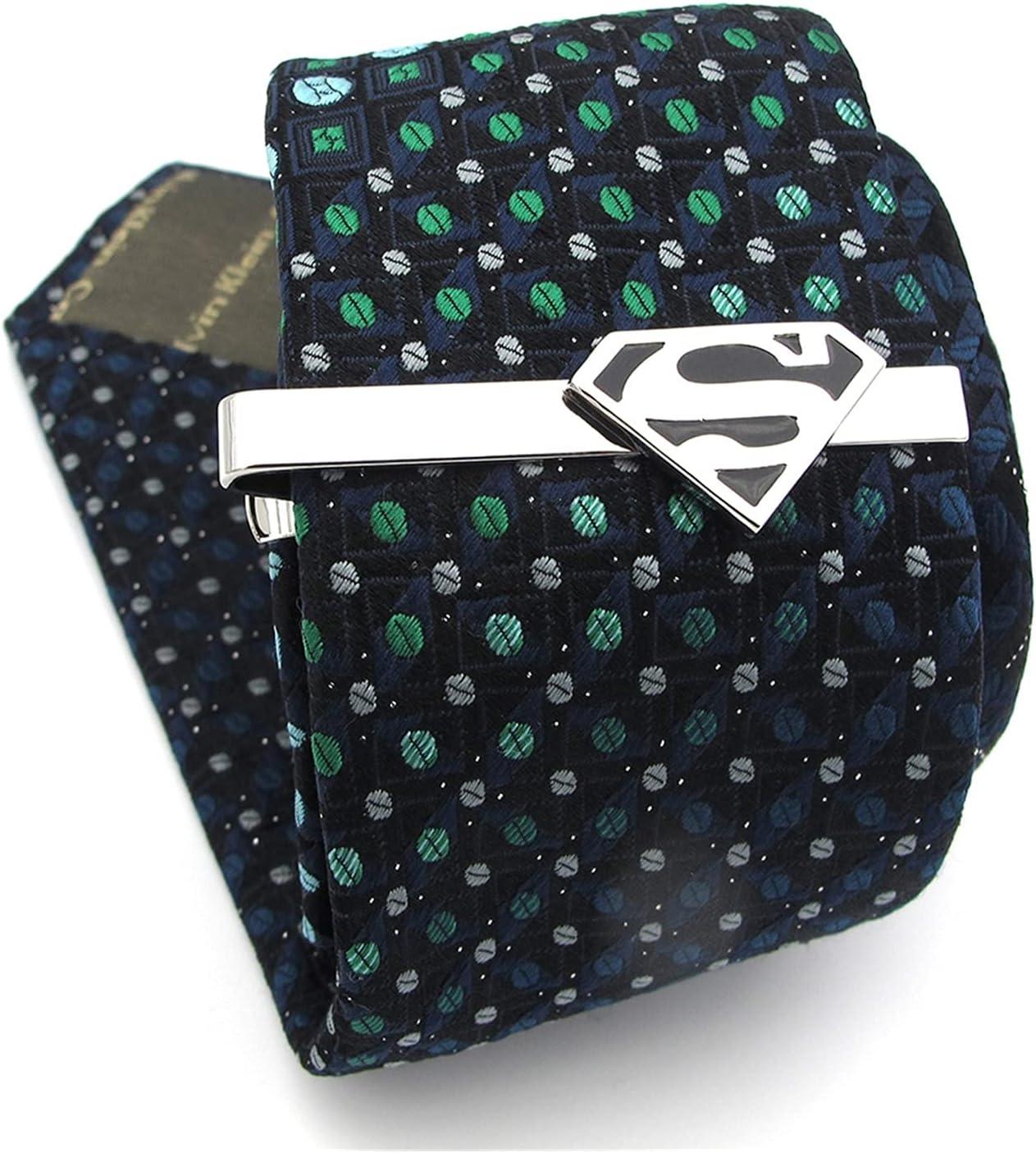 Tie Clips Men's Super Heroes Tie Clips Copper Material Black Color Movie Design Tie Bar