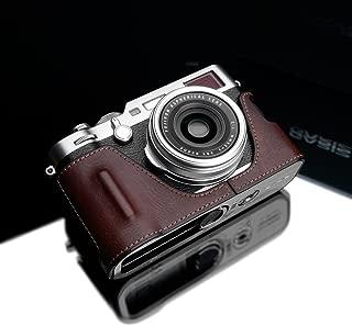Gariz HG-X100FBR Genuine Leather Half Case for Fujifilm Fuji X100F, Brown