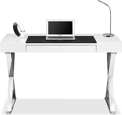 Centurion Supporta Adonis Bianco Lucido e Cromo ergonomica Ufficio Computer a casa scrivania