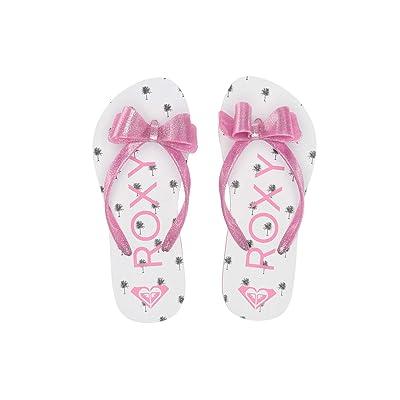 Roxy Kids Lulu III (Little Kid/Big Kid) (White/Hot Pink) Girls Shoes