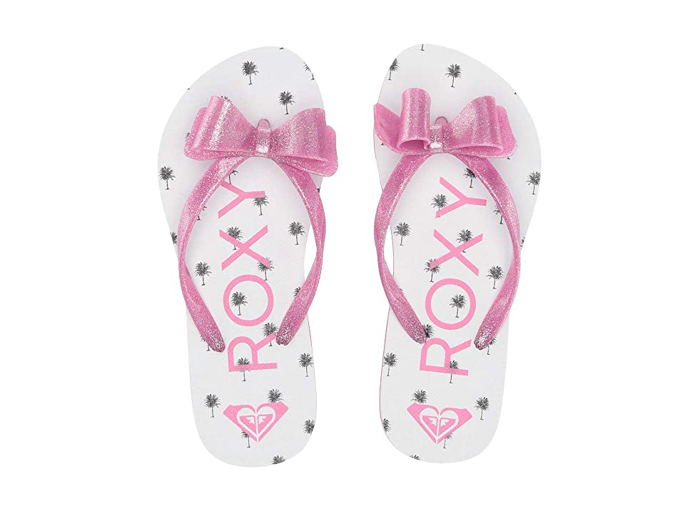 Roxy Kids Lulu III (Little Kid/Big Kid) (White/Hot Pink) Girls Shoes