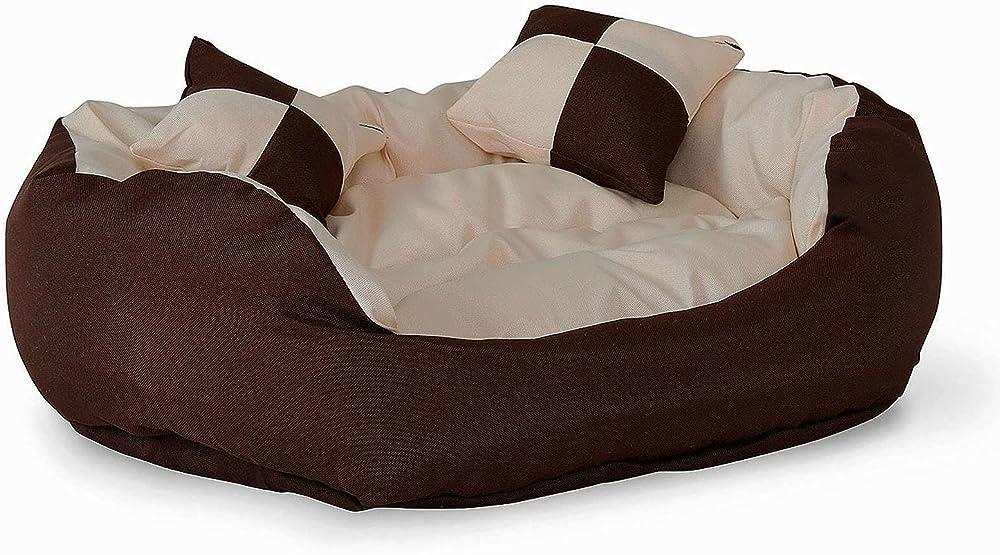 dibea letto per cani in tessuto oxford antigraffio e idrorepellente per interno e esterno 65x50 cm s db00110