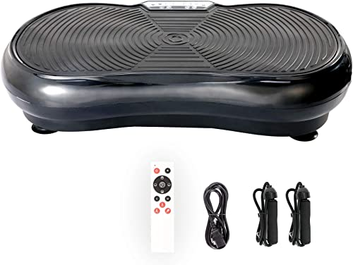Pinty Fitness Vibration Platform - Whole Body Vibration Machine Crazy Fit Vibration Plate with Remote Control and Res...