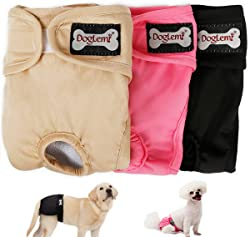 Gazelle Trading Female Dog Diapers Puppy Nappies Washable Reusable Underwear Breathable Pants