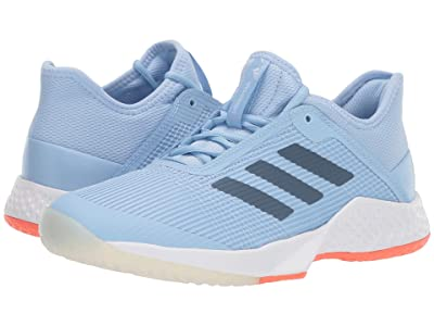adidas Adizero Club (Glow Blue/Tech Ink/Hi-Res Coral) Women