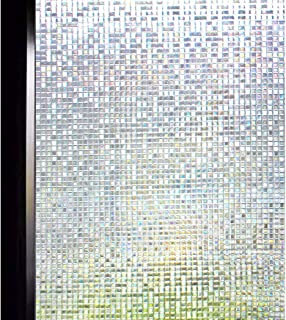 DUOFIRE 3D窓用フィルム 目隠しシート ガラスフィルム 断熱 遮光 結露防止 紫外線UVカット 水で貼る 貼り直し可能 装飾フィルム おしゃれ [石道004] (0.6M x 4M)