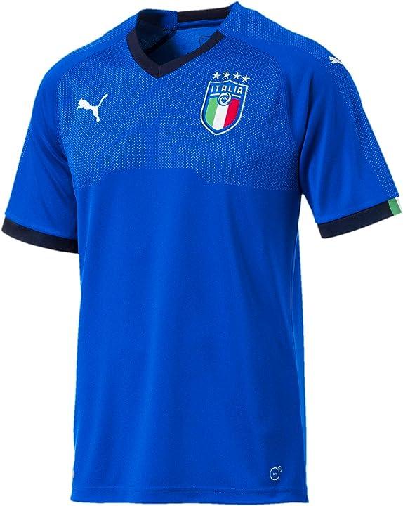 maglietta nazionale di calcio italiana puma figc short sleeve, maglietta uomo 752281 01