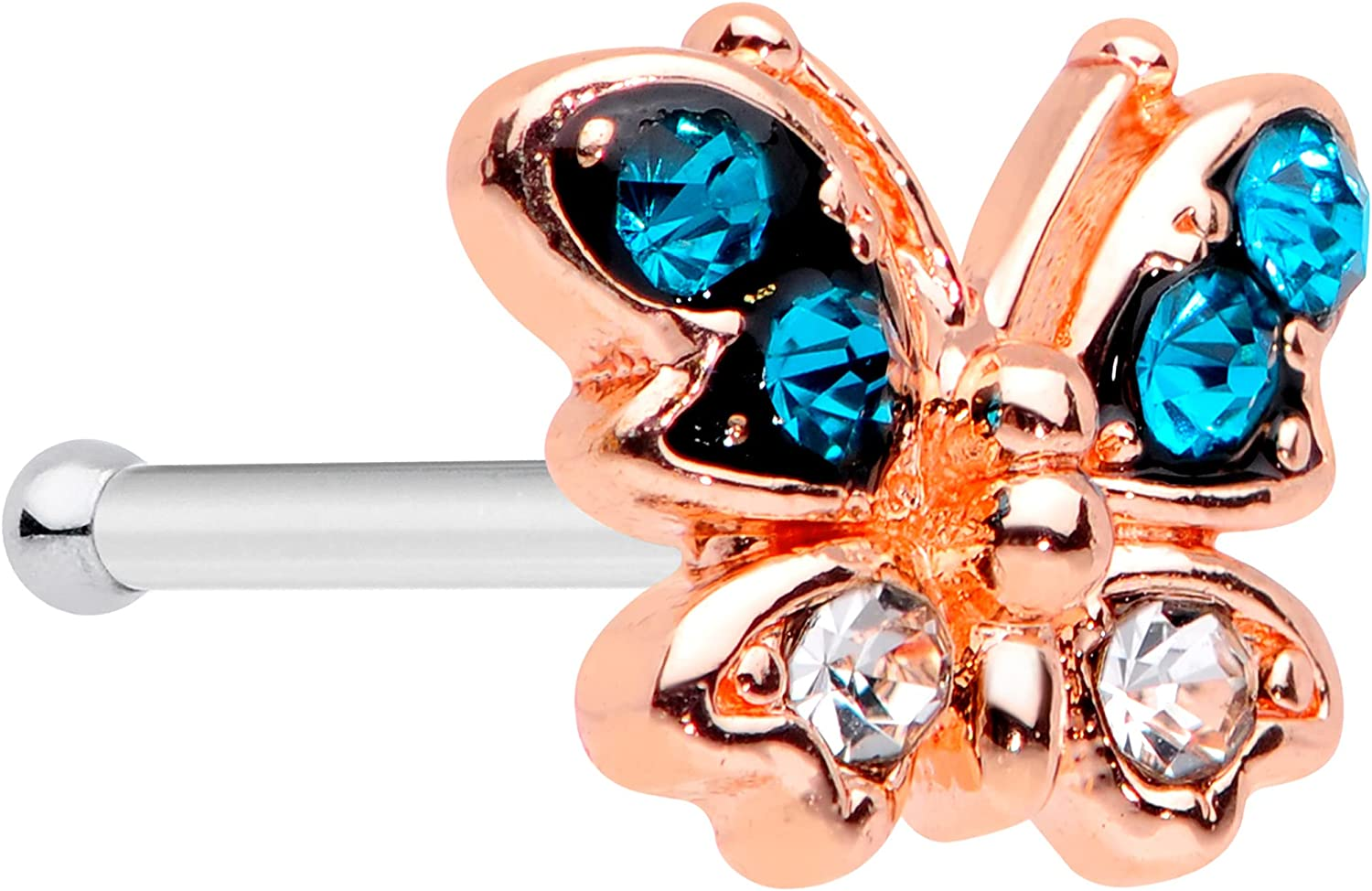 Body Candy Womens 20G 6mm Max 79% OFF Steel No We OFFer at cheap prices Stud Ring Nose Butterfly