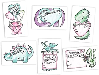 Adorable Dinosaurs Classroom Valentine's Day Exchange Cards - 48 Cards