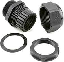 1 1/4 Inch Black Nylon Cable Gland for 22 - 32mm Cable - 2 Pack