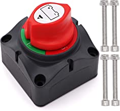 Tuijodaix Battery Disconnect Switch,12-48 V Battery Cut Master Switch for Marine Boat RV ATV UTV Vehicles, Waterproof Heavy Duty Battery Isolator Switch, 275/1250 Amps, On Off Position