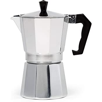 Epoca PES-3306 coffee maker - Cafetera (Aluminium, Stovetop, Aluminium, Ground coffee, Espresso, 103.12)