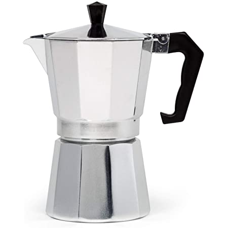 Primula Stovetop Espresso and Coffee Maker, Moka Pot for Classic Italian and Cuban Café Brewing, Cafetera, Six Cup