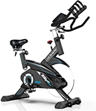 L NOW Indoor Cycling Bike - Pro Exercise Bike Home Cardio Gym Sports HIIT Training System with Pulse and LCD Display