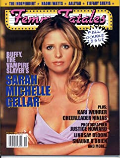 Femme Fatales Magazine SARAH MICHELLE GELLAR Aaliyah NAOMI WATTS Lilith Stabs BUFFY THE VAMPIRE SLAYER September 2002 C (Femme Fatales Magazine)