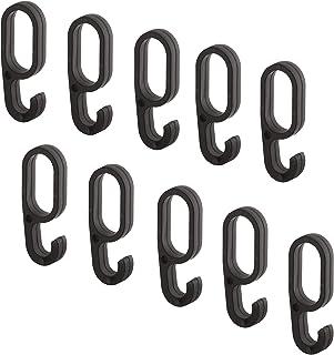 Gedotec Crochet pour Rail | Accessoire de Portemanteau à Glisser sur une Barre à Vêtements Murale, d'Armoire ou de Dressin...