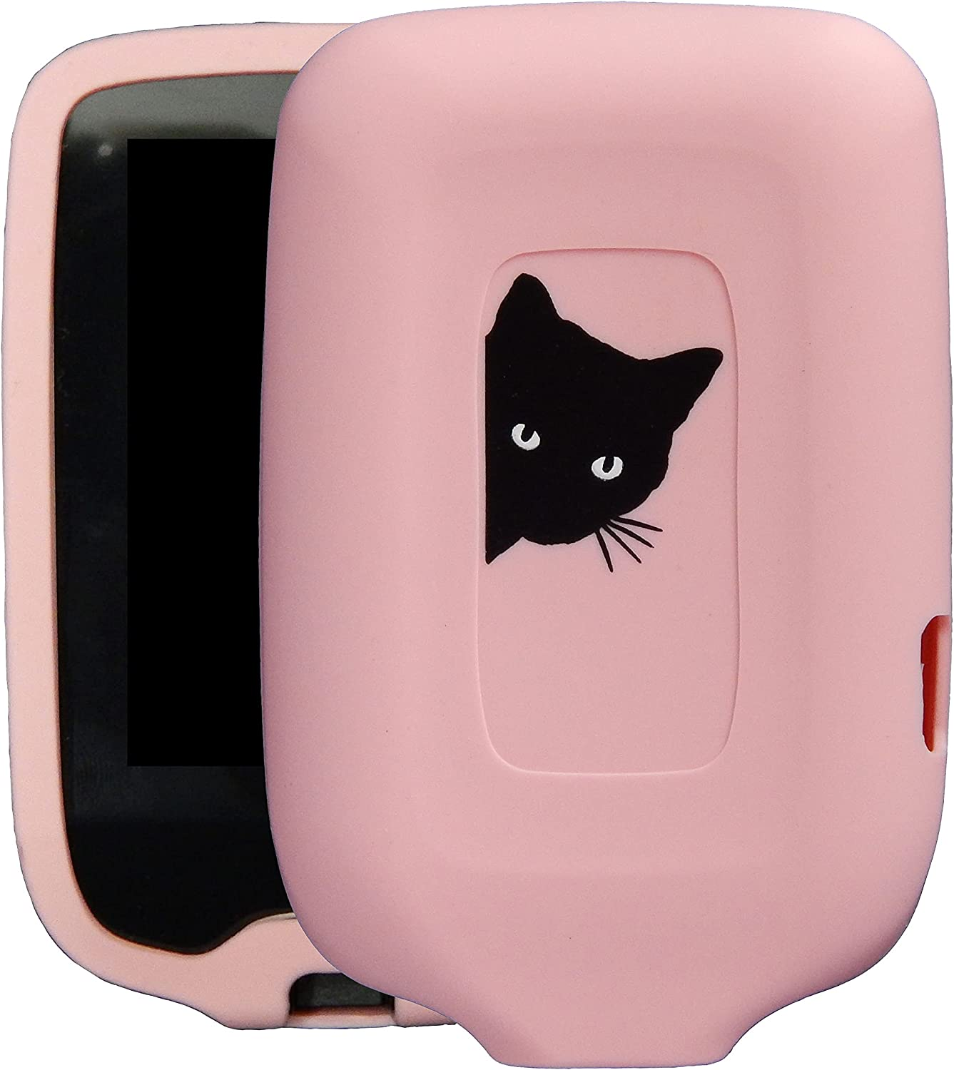 New! Premium Silicone Case with Cartoon Animal Patterns for Continuous Glucose Monitor-Freestyle Libre/Freestyle Libre 2 (cat/Pink)