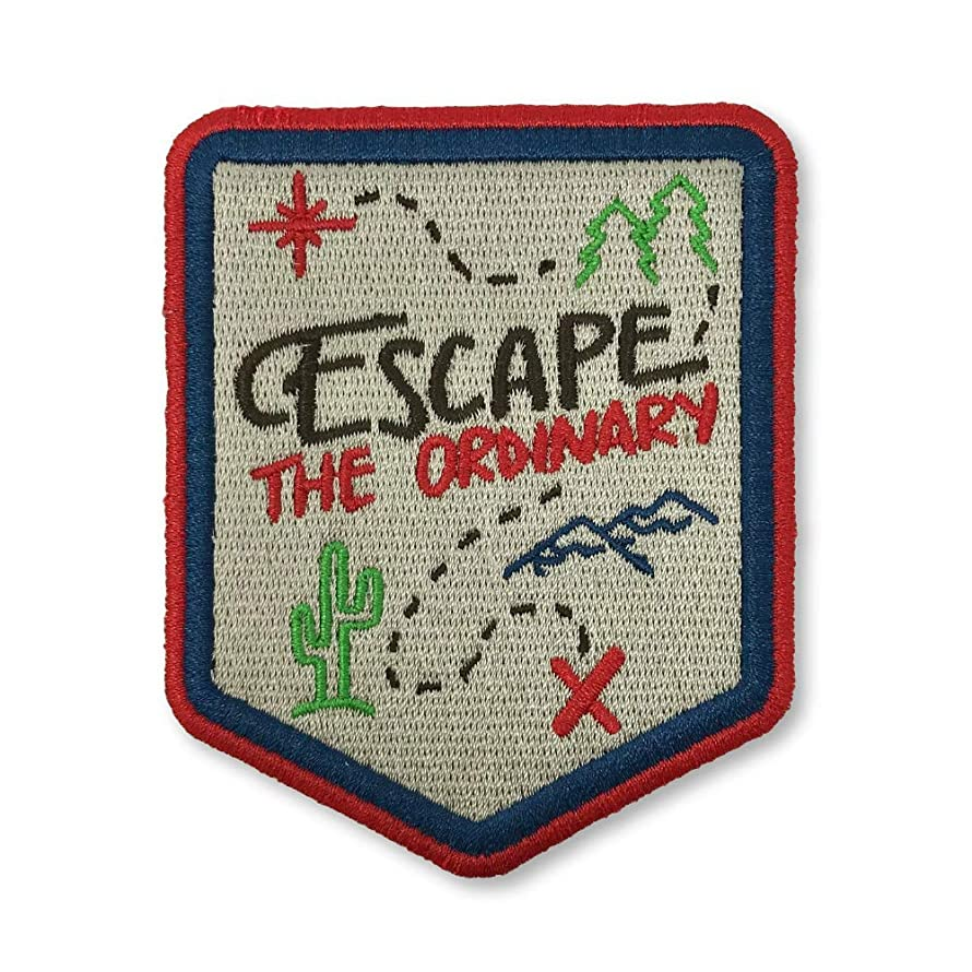 O'Houlihans - Escape The Ordinary Iron on Patch - Hiking, Camping, Travel, Adventure Patch
