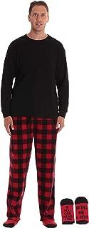 Polar Fleece Pajama Pants Set for Men Sleepwear PJs