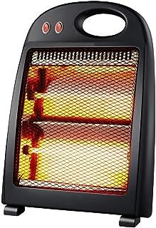 XYW-0007 Calefactor EléCtrica Calefactor Reflector De 2 Velocidades, Silencio, Ahorro De EnergíA, BañO DoméStico, Oficina, 800 Vatios, Calentador, Negro, 30.4x8x41.8cm
