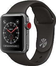 AppleWatchSeries3 (GPS+Cellular) concaja de 38mm de aluminio engris espacial ycorrea deportiva - Negra