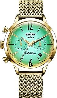 Welder moody Womens Analog Quartz Watch with Stainless Steel Gold Plated bracelet WWRC604