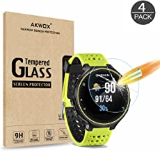 (4 Pack) Tempered Glass Screen Protector for Garmin Forerunner 235 225 630 620 220 230, AKWOX [0.33mm 2.5D High Definition 9H][Anti-Scratch] Premium Clear Screen Protector