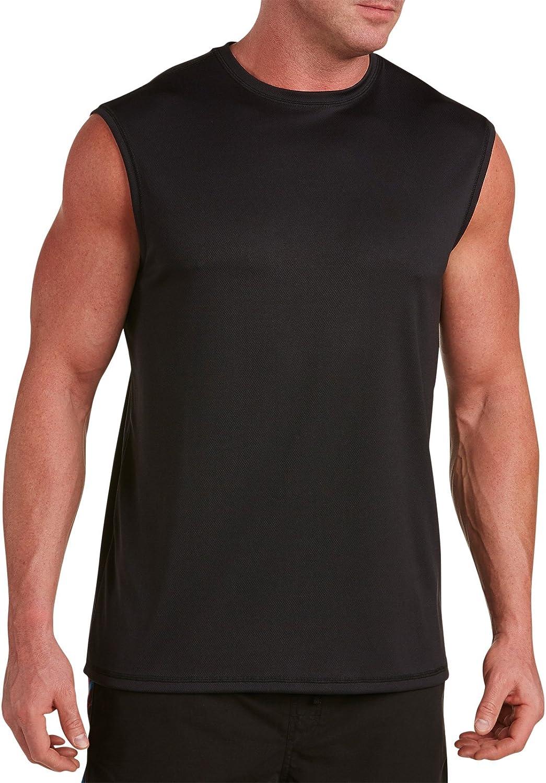 Harbor Bay by DXL Big and Tall Swim Rash Guard T-Shirt