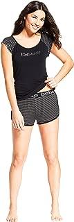 bebe Womens Sleep/Lounge Top with Pajama Shorts Sleepwear Set