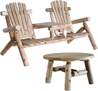 Lakeland Mills Tete-a-Tete Patio Chairs with Round Table