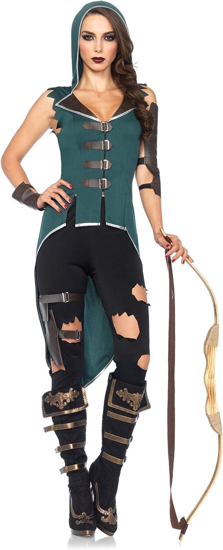 Leg Avenue 85468 - Rebel Robin Hood Damen kostüm, Größe XS (Schwarz Grün) B00UM40Z86 Elegant und feierlich    Offizielle Webseite