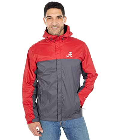 Columbia College Alabama Crimson Tide Glennaker Stormtm Jacket (Red Velvet/Dark Grey) Men