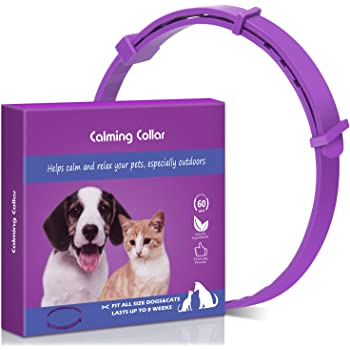 Tyhocent Calming Collar for Cats and Dogs with Appeasing Effect, Adjustable Relieve Reduce Anxiety Pheromone Keep Pet Lasting Natural Calm