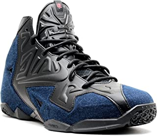 Nike Lebron XI EXT Denim QS Men's Shoes Black/Black-Denim 659509-004 (8 D(M) US)