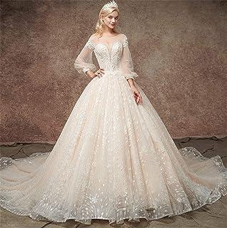 69dae3880f3b LYJFSZ-7 Abito da Sposa,Ragazza Principessa Senza Spalline Elegante Abito  da Sposa con