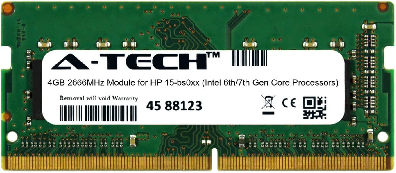 A-Tech 4GB Module Today's only for HP 15-bs0xx Gen Intel 7th Dallas Mall 6th Core Proces