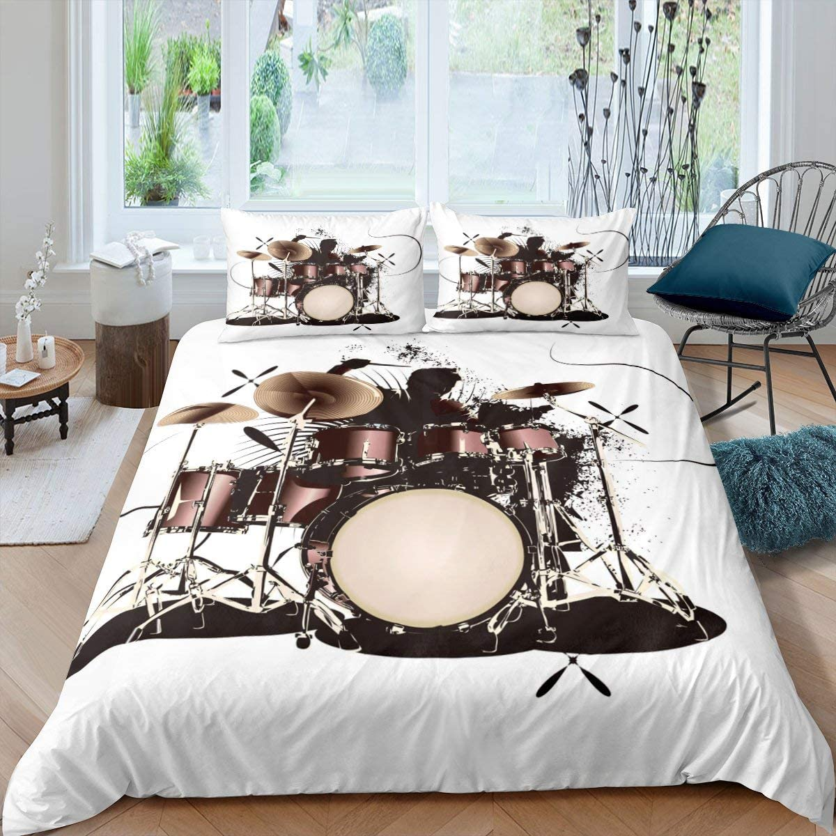 Boys Bedding Set Rock Music 超定番 休日 Cover Instr Musical Comforter Theme