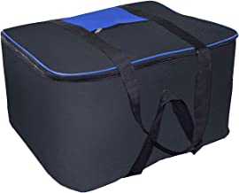 DAHSHA Nylon Heavy Duty Large Size underbed Storage Bag Organiser with Double Zipper Closure & Strong Handle (54 X 46 X 28 cm)