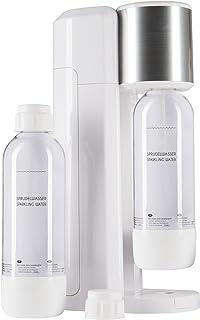 Levivo Kit de machine à eau gazeuse/comprenant une machine à gazéifier l'eau potable et 2 bouteilles de 0,75 l en PET