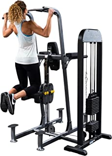 Body-Solid FCD-STK New Weight Assisted Chin Dip Machine with Counterbalanced Weight Stack