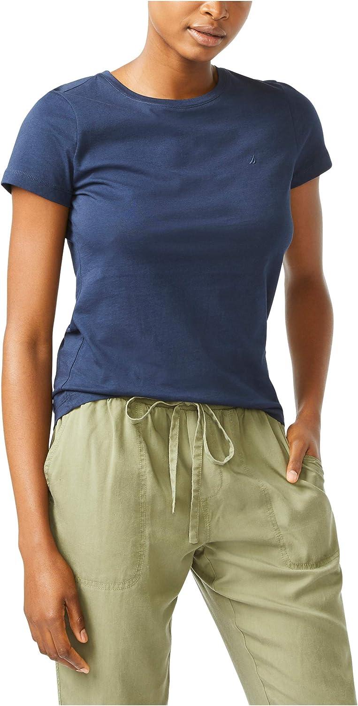 Nautica Women's Classic Fit Crew-Neck J-Class T-Shirt